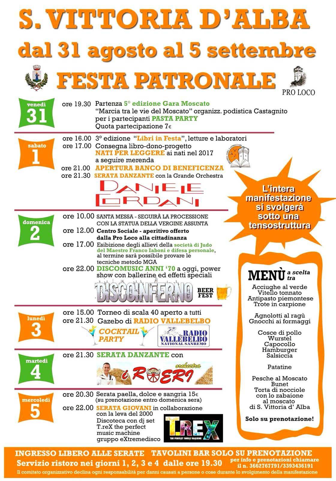 Programma festa patronale 2018